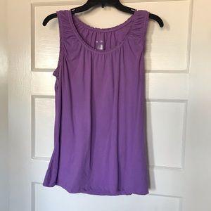 NWOT Merona Purple Sleeveless Top Size Large